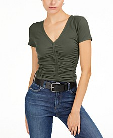 Ruched Knit T-Shirt, Created for Macy's