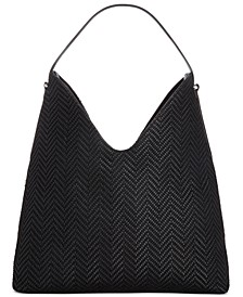 INC Bonniee Woven Hobo, Created for Macy's