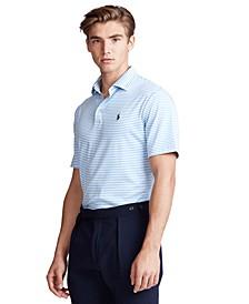 Men's Classic Fit Soft Cotton Striped Polo