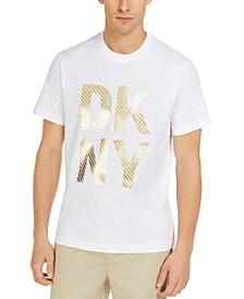 Men's Diagonal Stripe Foil Logo T-Shirt