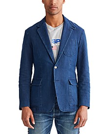 Men's Indigo Canvas Sport Coat