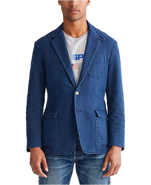 Polo Ralph Lauren Men's Indigo Canvas Sport Coat