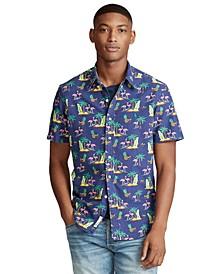 Men's Big & Tall Classic-Fit Tropical Print Shirt