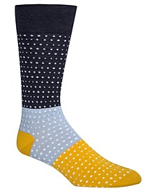 Men's Colorblocked Dot Socks