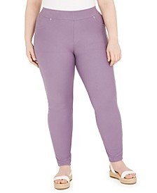 Plus Size Stretch-Twill Leggings