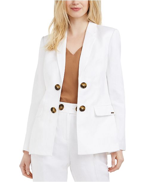 Calvin Klein Double-Breasted Open-Front Blazer