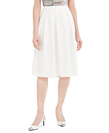 Calvin Klein Petite Scuba Crepe Midi Skirt