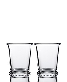Ring Double Old Fashioned Glasses - Set of 2