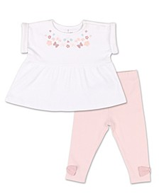 Baby Girl Tiny Blooms Floral Tunic Shirt and Pant Set
