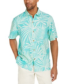 Men's Through the Fronds Classic-Fit Tropical Print Silk Camp Shirt