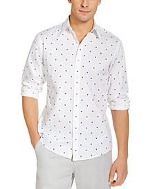 Men's Slim-Fit Stretch Print Shirt