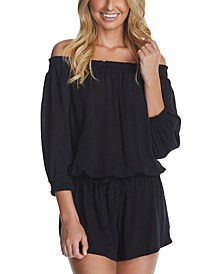 Juniors' West Coast Romper Swim Cover-Up