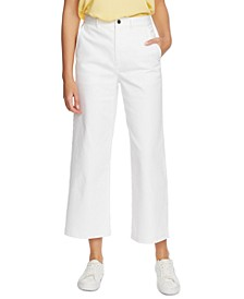 Wide-Leg Ankle Pants