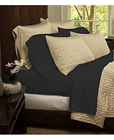 Luxury Home Rayon and Microfiber Bed Sheets Set - Queen