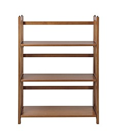 "3-Shelf Folding Stackable 27.5"" Wide Bookcase"