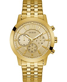 Men's Gold-Tone Stainless Steel Bracelet Watch 45mm