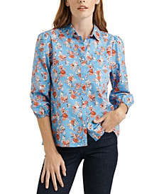 The Poet Printed Cotton Shirt