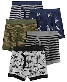 Little & Big Boys 5-Pack Cotton Boxer Briefs