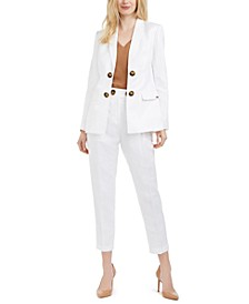 Open-Front Jacket, Strappy Cami & Slim Pants
