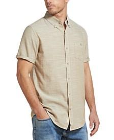 Men's Twill Slub Short Sleeve Shirt