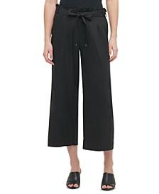 Tie-Belt Pull-On Pants