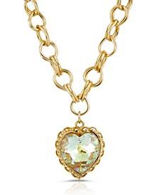 Swarovski Crystal Aurora Borealis Heart Pendant Necklace