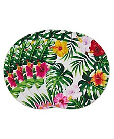 Blooming Lilies Charger Plate Set of 4