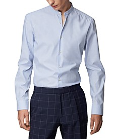 HUGO Men's Jordi Stand-Collar Shirt