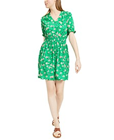 Floral-Print Smocked-Waist Dress, Created For Macy's