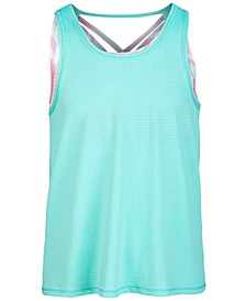 Big Girls Strappy Layered-Look Tank Top