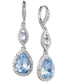 Crystal & Stone Double Drop Earrings