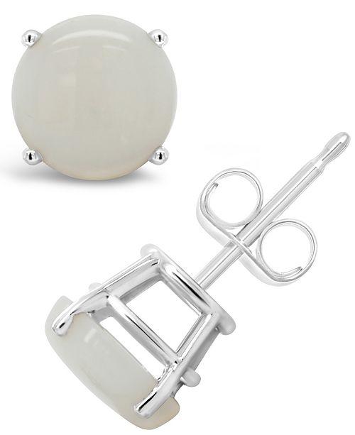 Macy's Opal (1-5/8 ct. t.w.) Stud Earrings in Sterling Silver