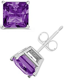 Amethyst (2-1/5 ct. t.w.) Stud Earrings in Sterling Silver (Also Available in Other Gemstones)