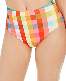 Printed High-Waist Bikini Bottoms