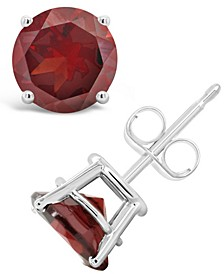 Garnet (3-1/5 ct. t.w.) Stud Earrings in Sterling Silver (Also Available in White Topaz and Citrine)