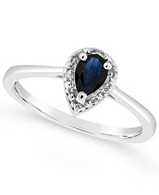 Sapphire (3/8 ct. t.w.) and Diamond Accent Ring in Sterling Silver