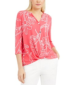 Printed Twist-Front Top, Created for Macy's