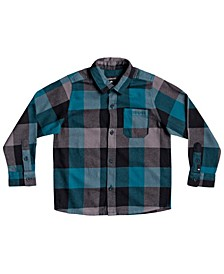 Little Boys Motherfly Flannel Long Sleeve Woven Shirt
