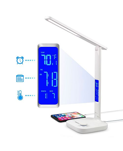 Innoka Dimmable LED Desk Lamp with USB Charging Port Built In LCD Display