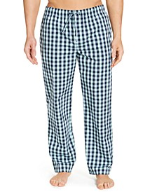 Men's Plaid Cotton Pajama Pants, Created for Macy's