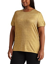 Plus-Size Metallic T-Shirt