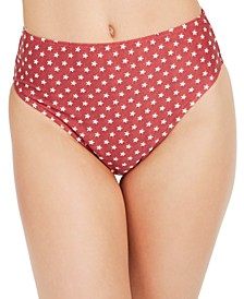 Emily Star-Print High-Waist Bikini Bottoms