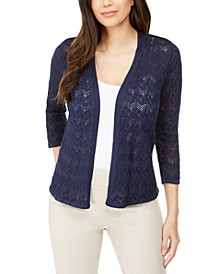Pointelle Stitch Cardigan Sweater, Created for Macy's