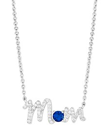 Birthstone Mom Necklace In Fine Silver Plate