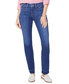 Marilyn Released-Hem Tummy-Control Jeans