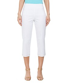 Embellished-Hem Straight-Leg Capri Pants, Created for Macy's