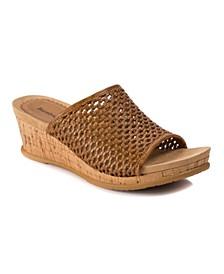 Flossey Slip-On Wedge Sandals