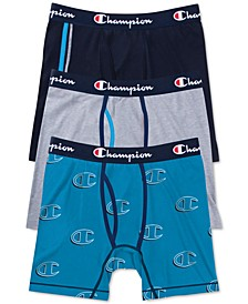 Men's 3-Pk. Performance Boxer Briefs