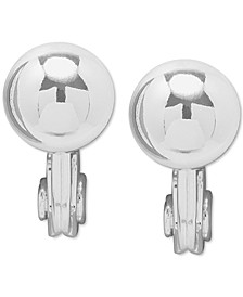 Ball Clip-On Button Earrings