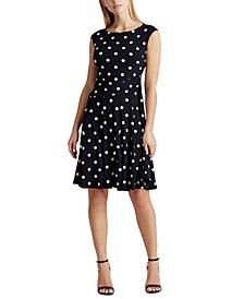 Petite Polka-Dot Jersey Dress